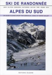 Ski de randonnée Alpes du sud - Couverture - Format classique