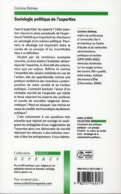 Sociologie politique de l'expertise - 4ème de couverture - Format classique