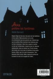 Ava préfère les fantômes - 4ème de couverture - Format classique