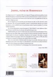 Roudinesco, plagiaire de soi-même ; Lacan, Maurras et les juifs - 4ème de couverture - Format classique
