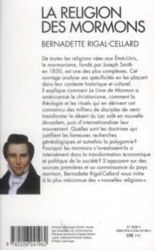 La religion des mormons - 4ème de couverture - Format classique
