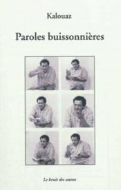 Paroles buissonnieres - Couverture - Format classique