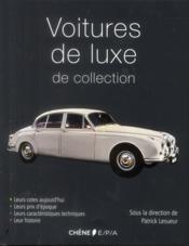 Voitures de luxe de collection - Couverture - Format classique
