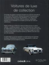 Voitures de luxe de collection - 4ème de couverture - Format classique