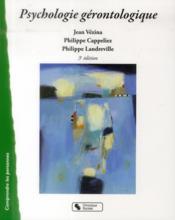 Psychologie gérontologique - Couverture - Format classique