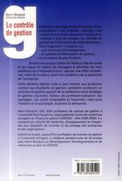 Le contrôle de gestion (10e édition) - 4ème de couverture - Format classique