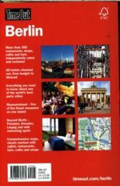 Berlin - 4ème de couverture - Format classique
