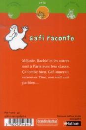 Gafi à Paris - 4ème de couverture - Format classique