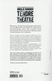 Tendre théâtre - 4ème de couverture - Format classique