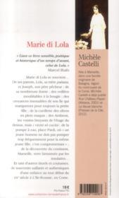 Marie di Lola ; une enfance corse - 4ème de couverture - Format classique