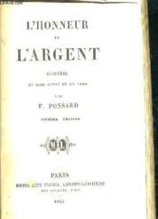 L'Honneur Et L'Argent - Comedie En Cinq Actes Et En Vers. - Couverture - Format classique