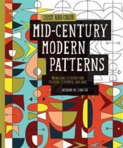 Just add color : mid-century modern patterns - Couverture - Format classique