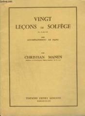 20 Lecons De Solfege - En Cle De Sol Avec Accompagnement De Piano. - Couverture - Format classique