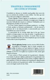 Traiter l'insalubrité en Côte d'Ivoire ; pour un développement durable - 4ème de couverture - Format classique