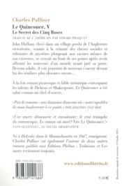 Le quinconce t.5 ; le secret des cinq roses - 4ème de couverture - Format classique