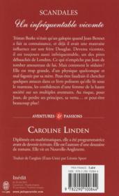 Scandales T.1 ; un infréquentable vicomte - 4ème de couverture - Format classique