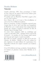 Nikolski - 4ème de couverture - Format classique