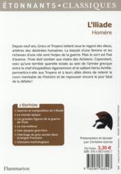 L'Iliade (extraits) - 4ème de couverture - Format classique