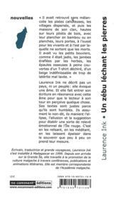 Un zébu léchant les pierres - 4ème de couverture - Format classique