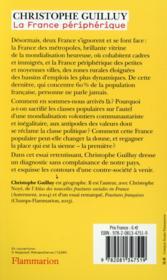 La France périphérique ; comment on a sacrifié les classes populaires - 4ème de couverture - Format classique