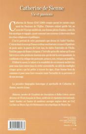 Catherine de Sienne ; vie et passions - 4ème de couverture - Format classique