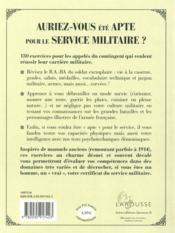 Auriez-vous été bon pour le service militaire ? - 4ème de couverture - Format classique