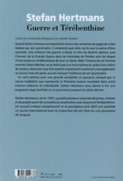 Guerre et térébenthine - 4ème de couverture - Format classique
