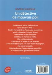 Un détective de mauvais poil - 4ème de couverture - Format classique