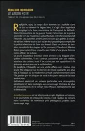 Le lagon noir - 4ème de couverture - Format classique
