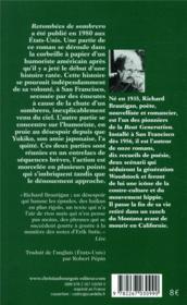 Retombées de Sombrero - 4ème de couverture - Format classique