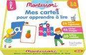 Montessori mes cartes pour apprendre à lire - Couverture - Format classique