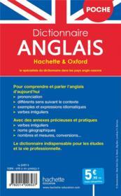 Dictionnaire Hachette & Oxford poche ; français-anglais / anglais-français - 4ème de couverture - Format classique