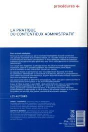 La pratique du contentieux administratif (13e édition) - 4ème de couverture - Format classique