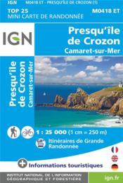 M0418ET ; presqu'île de Crozon - Couverture - Format classique