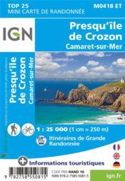 M0418ET ; presqu'île de Crozon - 4ème de couverture - Format classique