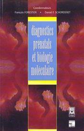 Diagnostics Prenatals Et Biologie Moleculaire - Intérieur - Format classique