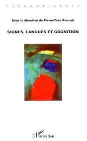 Signes, langues et cognition - Intérieur - Format classique