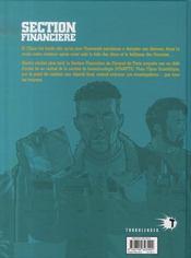 Section financière t.2 ; délit d'initié - 4ème de couverture - Format classique