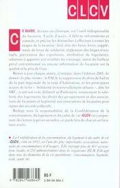 Locataires ; Guide Des Droits 2001 - 4ème de couverture - Format classique
