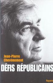 Defis Republicains - Intérieur - Format classique