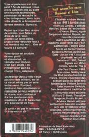 Signaux lointains - 4ème de couverture - Format classique