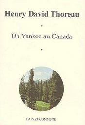 Un yankee au Canada - Couverture - Format classique