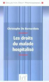 Les droits du malade hospitalisé - Intérieur - Format classique
