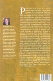 Finance ethique - structures, acteurs et perspectives en france - 4ème de couverture - Format classique