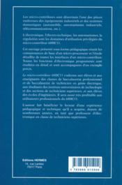 Le microcontroleur 68hc11 - 4ème de couverture - Format classique
