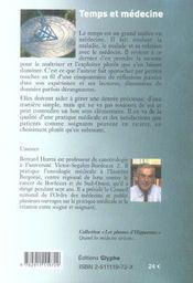 Temps et médecine - 4ème de couverture - Format classique