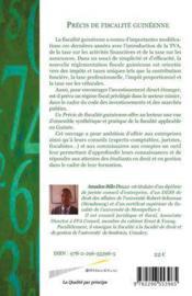 Précis de fiscalité guinéenne - 4ème de couverture - Format classique