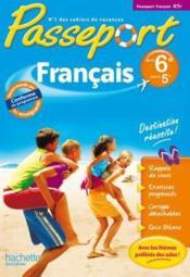 PASSEPORT ; français ; de la 6ème à la 5ème ; cahier de vacances - Couverture - Format classique