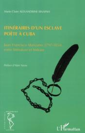 Itinéraires d'un esclave poète à Cuba ; Juan Francisco Manzano (1797-1854), entre littérature et histoire - Couverture - Format classique