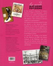 Les grands magasins parisiens - 4ème de couverture - Format classique